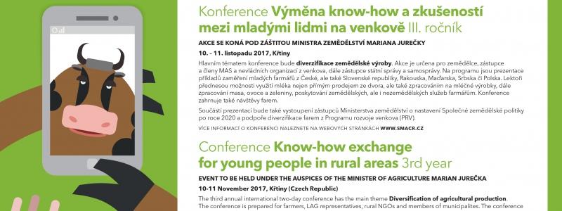 3. ročník mezinárodní konference Výměna know-how a zkušeností mezi mladými lidmi na venkově